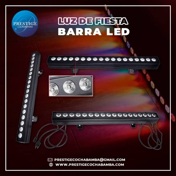 BARRA DE 24 LED MULTICOLOR RGB
